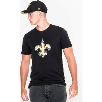 Camiseta de manga corta negra de New Orleans Saints NFL de New Era