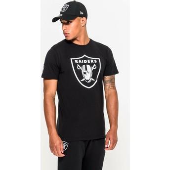 Camiseta de manga corta negra de Oakland Raiders NFL de New Era