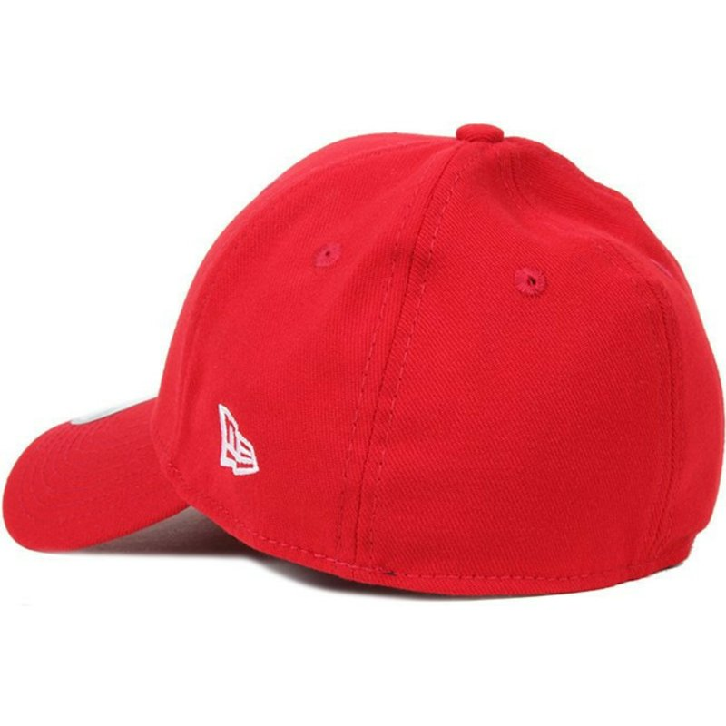 New Era Curved Brim 39THIRTY Basic Flag Red Fitted Cap  Shop Online ... 53fcc54fd01