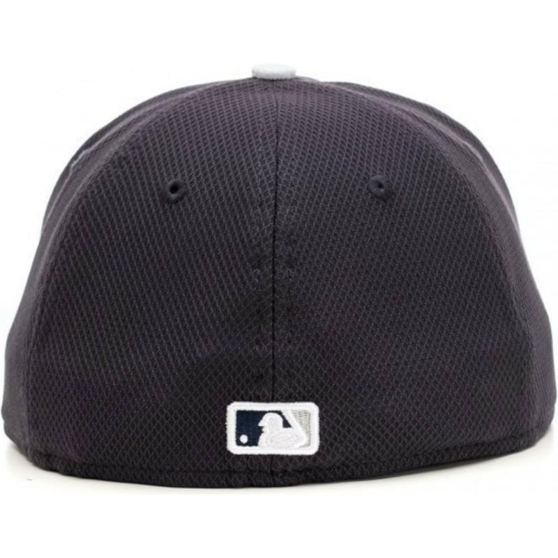 2508c2cb New Era Flat Brim 59FIFTY Diamond Era New York Yankees MLB Navy Blue ...