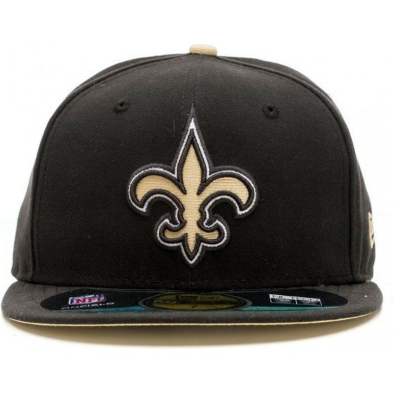 a6a53f86 New Era Flat Brim 59FIFTY Authentic On-Field Game New Orleans Saints ...