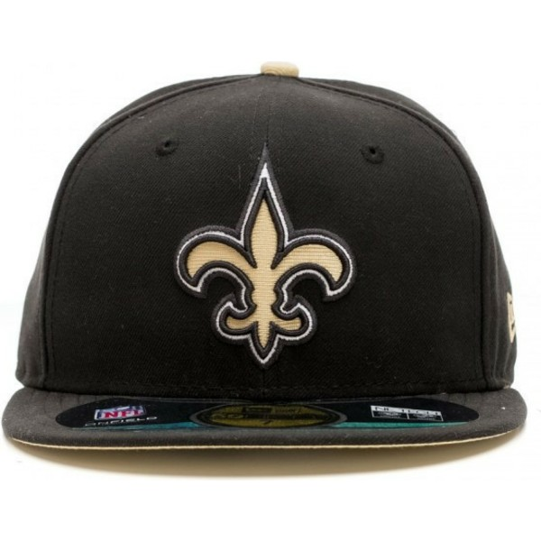 new-era-flat-brim-59fifty-authentic-on-field-game-new-orleans-saints-nfl-black-fitted-cap