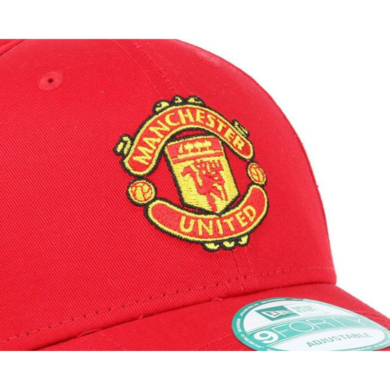 d5a74c25685 New Era Curved Brim 9FORTY Essential Manchester United Football Club ...