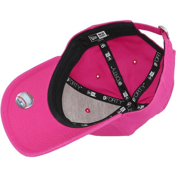 new-era-curved-brim-youth-9forty-essential-new-york-yankees-mlb-pink-adjustable-cap