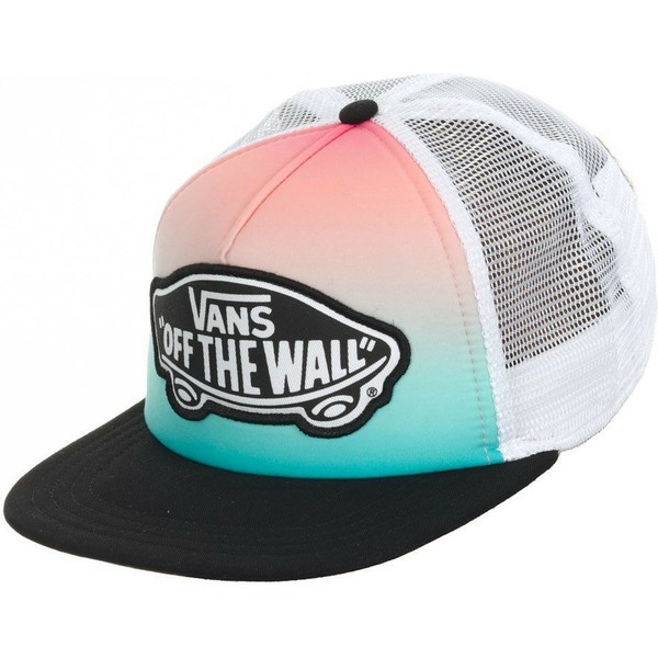 vans-beach-girl-gradient-green-and-pink-trucker-hat