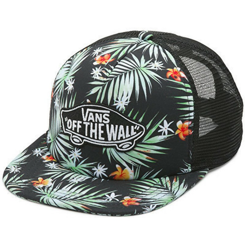 vans-classic-patch-palm-tree-print-black-trucker-hat