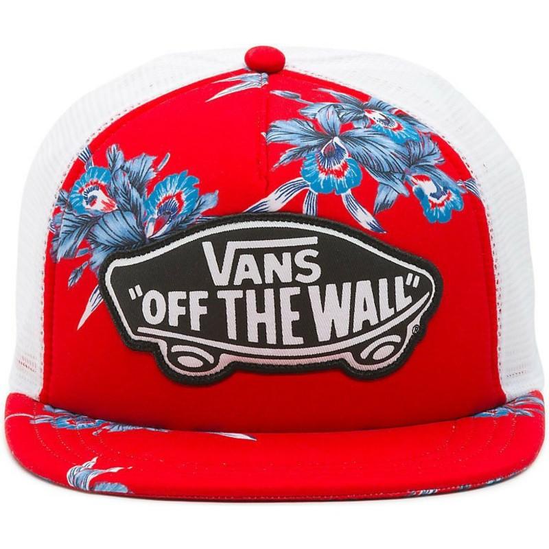b08fca8e Vans Beach Girl Hawaiian Red Trucker Hat: Shop Online at Caphunters