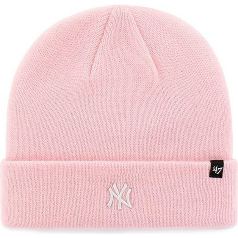 47-brand-new-york-yankees-logo-mlb-centerfield-pink-fold-beanie
