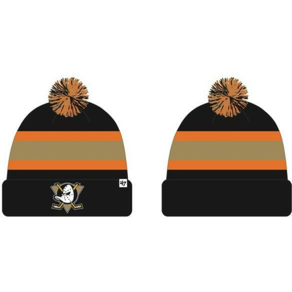47-brand-anaheim-ducks-nhl-breakaway-black-and-orange-beanie-with-pompom
