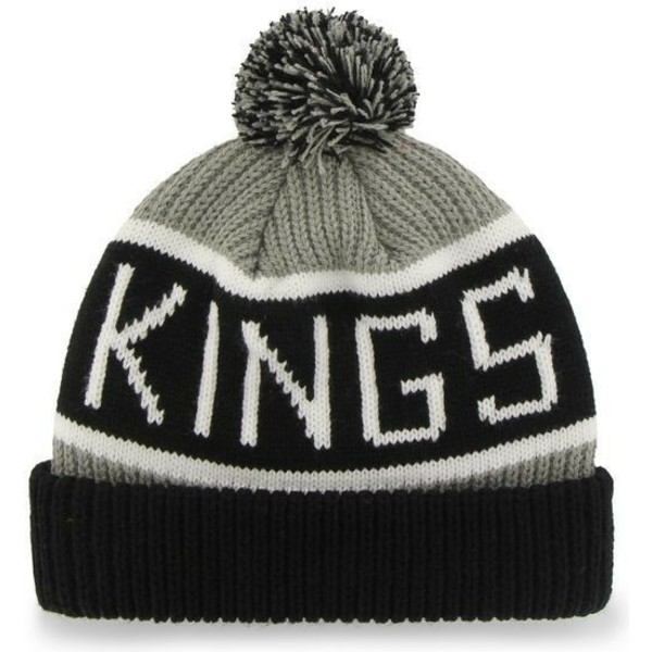 47-brand-los-angeles-kings-nhl-calgary-grey-beanie-with-pompom