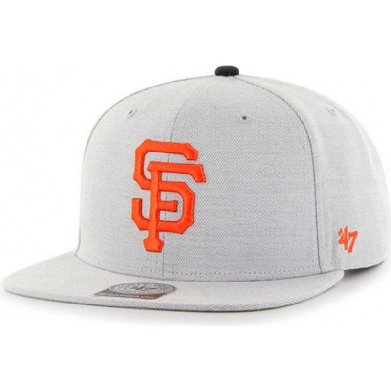 47 Brand Flat Brim San Francisco Giants MLB Boreland Captain RF Grey ... ce63517c4604