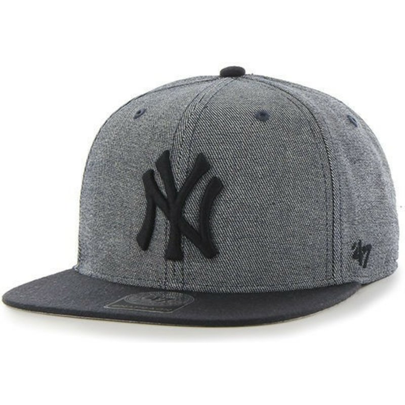 47-brand-flat-brim-new-york-yankees-mlb-giovanni-captain-grey-snapback-cap