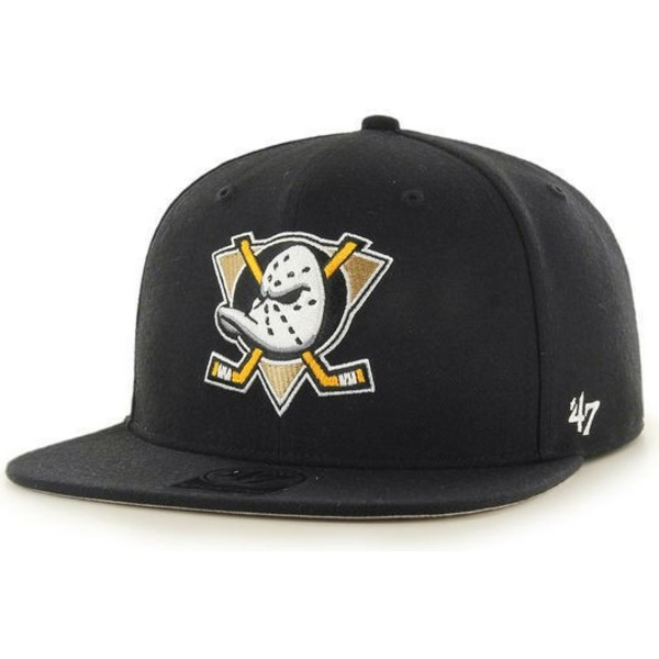 47-brand-flat-brim-anaheim-ducks-nhl-no-shot-captain-black-snapback-cap