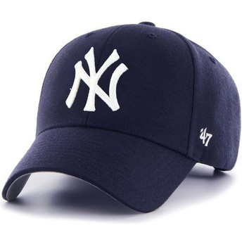 47 Brand Curved Brim New York Yankees MLB MVP Light Navy Blue Cap