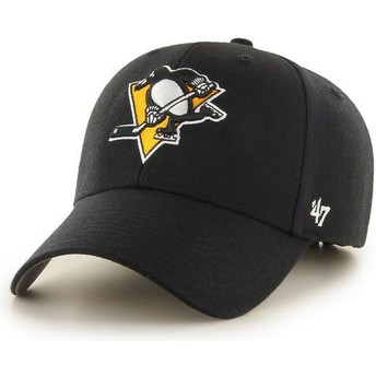 47 Brand Curved Brim Pittsburgh Penguins NHL MVP Black Cap