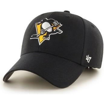 Gorra curva negra de Pittsburgh Penguins NHL MVP de 47 Brand
