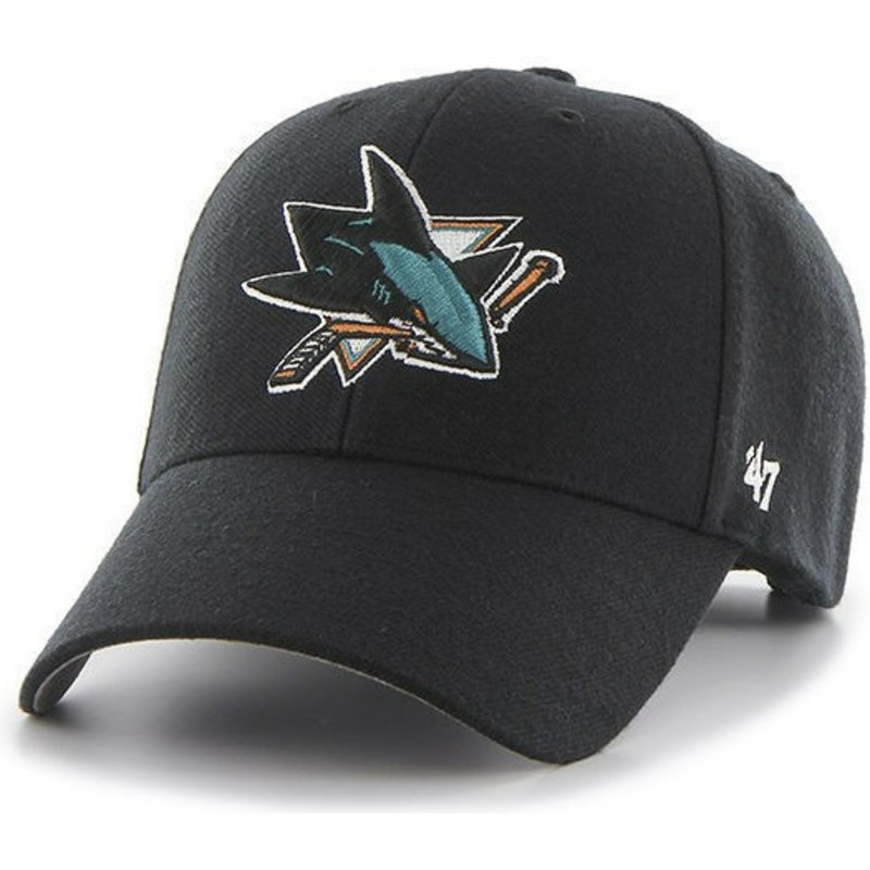 buy popular 09804 fe889 47-brand-curved-brim-san-jose-sharks-nhl-