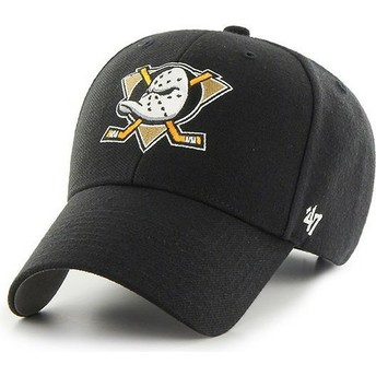 47 Brand Curved Brim Anaheim Ducks NHL MVP Black Cap