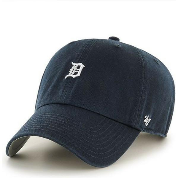47-brand-curved-brim-detroit-tigers-mini-logo-mlb-clean-up-navy-blue-cap
