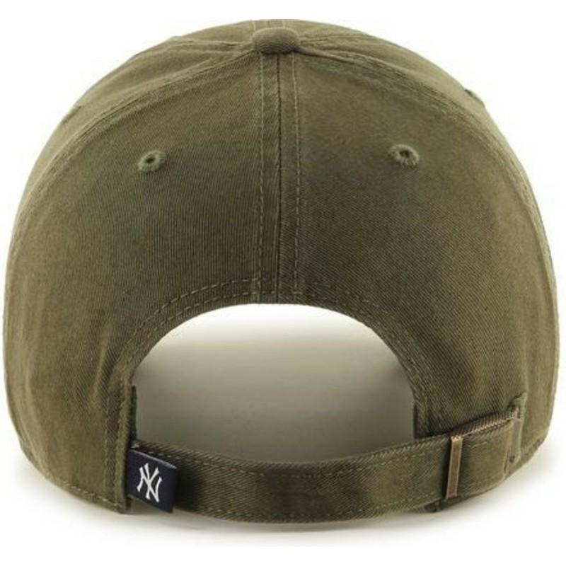 0e6e3d373b7 47 Brand Curved Brim New York Yankees MLB Clean Up Brown Cap  Shop ...