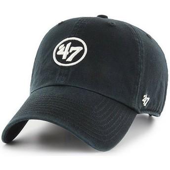 47 Brand Curved Brim 47 Logo Clean Up Black Cap
