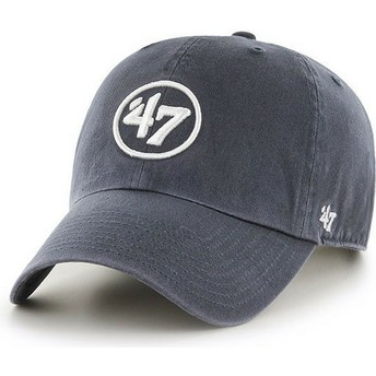 47 Brand Curved Brim 47 Logo Clean Up Navy Blue Cap