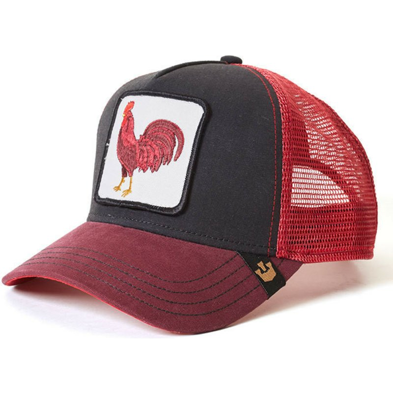 fe9123d262a53 Goorin Bros. Rooster Barnyard King Red and Black Trucker Hat  Shop ...