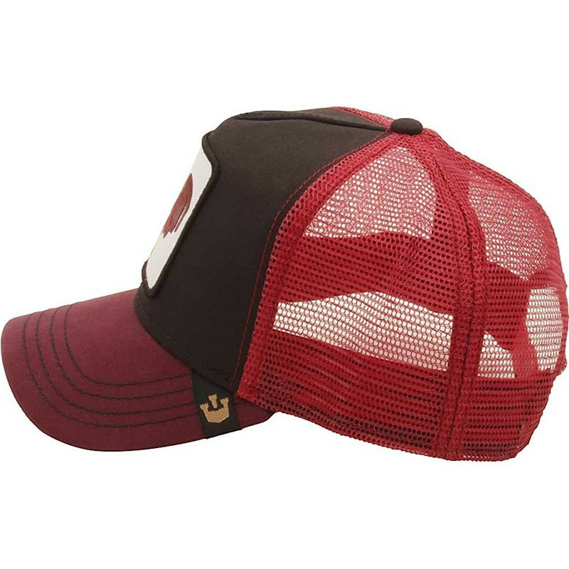 Goorin Bros. Rooster Barnyard King Red and Black Trucker Hat  Shop ... 43c93188374c
