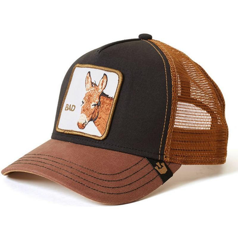 Goorin Bros. Donkey Bad Ass Brown and Black Trucker Hat  Shop Online ... e1f88a7ccfa4