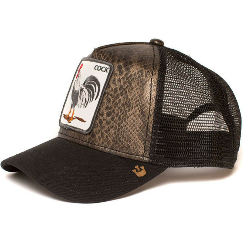def8b10da56 Goorin Bros. Rooster Tropical Black Trucker Hat  Shop Online at ...