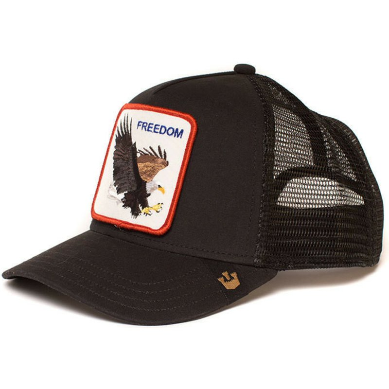 d0b6886ac29 Goorin Bros. Eagle Freedom Black Trucker Hat  Shop Online at Caphunters