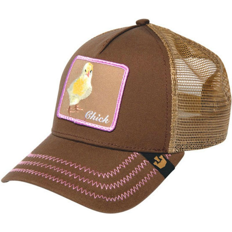 6e6a2a2e Goorin Bros. Chick Chicky Boom Brown Trucker Hat: Shop Online at ...