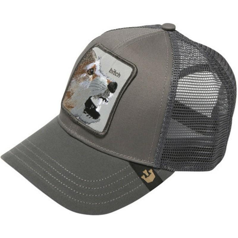 Goorin Bros. Fox Lassy Grey Trucker Hat  Shop Online at Caphunters fc8295816ba6