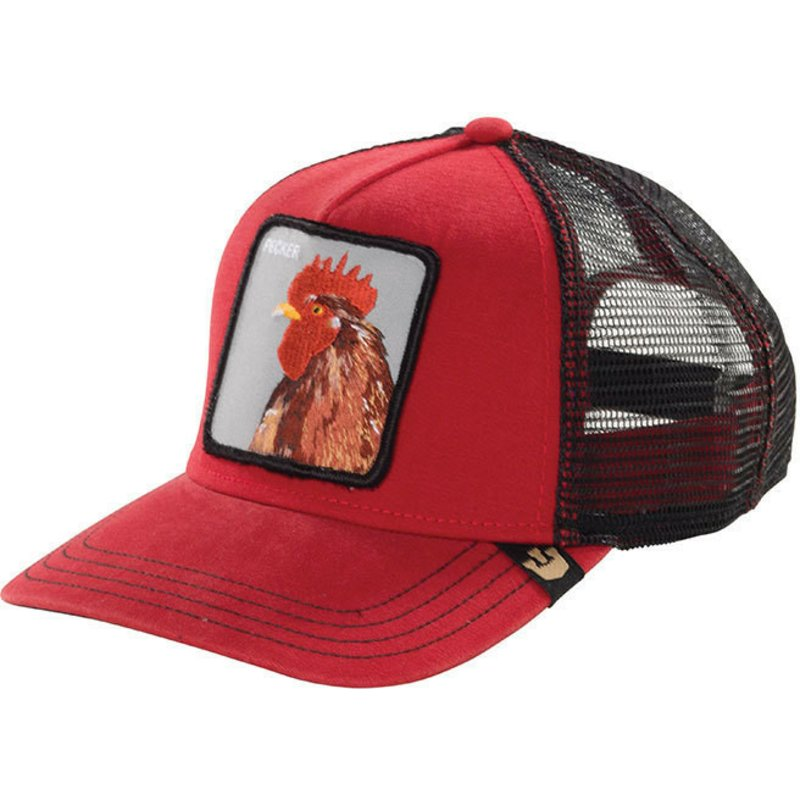 d3c920ab Goorin Bros. Rooster Plucker Red Trucker Hat: Shop Online at Caphunters