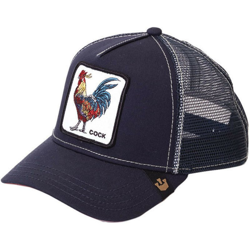 c973074e0df64 Goorin Bros. Rooster Navy Blue Trucker Hat  Shop Online at Caphunters
