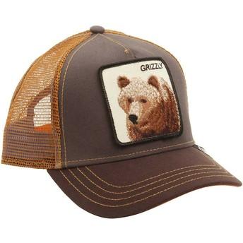 Gorra trucker marrón oso Grizz de Goorin Bros.