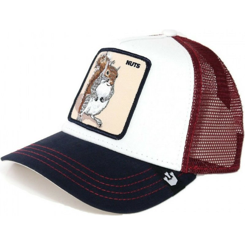 5b323757adc3b6 Goorin Bros. Squirrel Bonkers White and Red Trucker Hat: Shop Online ...