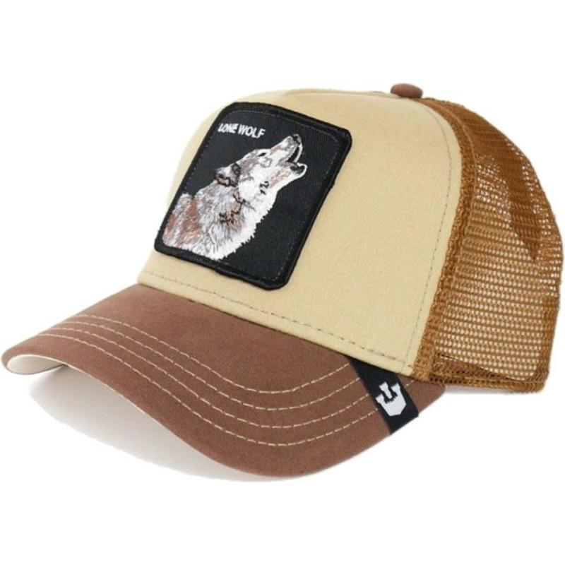 goorin bros wolf howler brown trucker hat shop online at caphunters