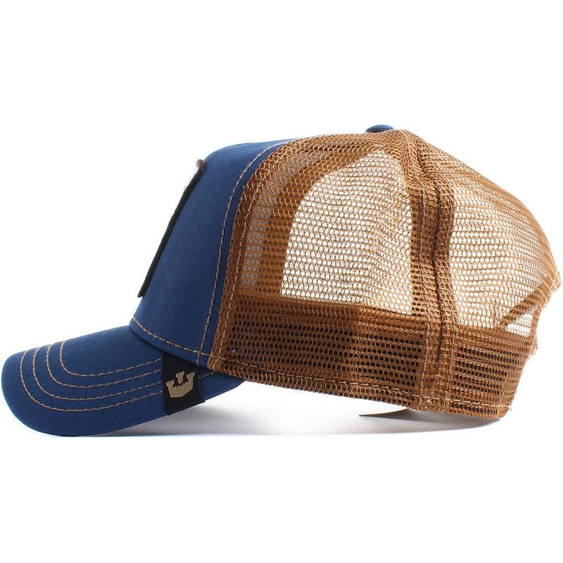 0104918b7b848 Goorin Bros. Goat Big Horn Navy Blue Trucker Hat  Shop Online at ...