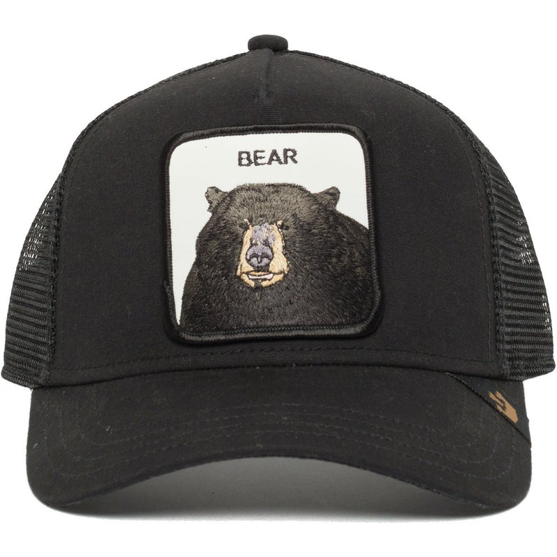 Goorin Bros. Black Bear Black Trucker Hat  Shop Online at Caphunters b2f294bdb01
