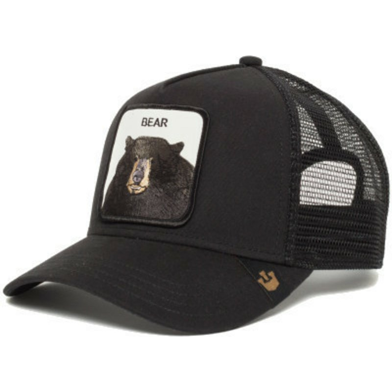 3ec301dd17bc71 Goorin Bros. Black Bear Black Trucker Hat: Shop Online at Caphunters