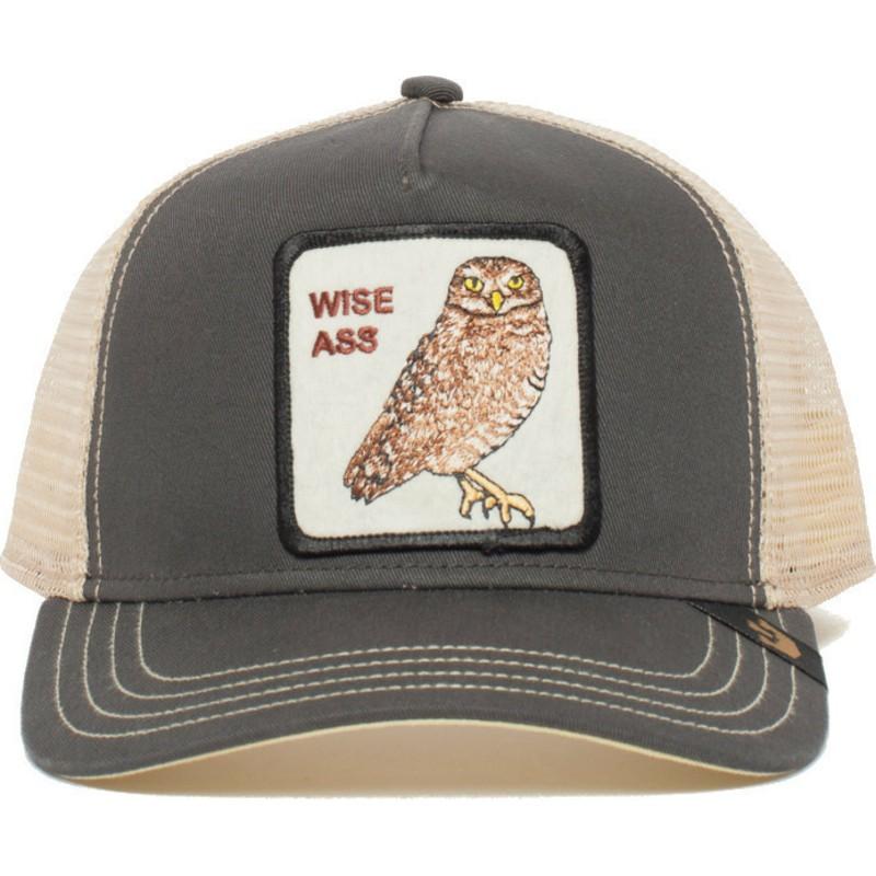 ecc46d5df905d Goorin Bros. Owl Big Ass Grey Trucker Hat  Shop Online at Caphunters