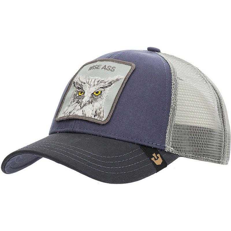 50c4fcca4881b Goorin Bros. X the Owl Navy Blue Trucker Hat  Shop Online at Caphunters