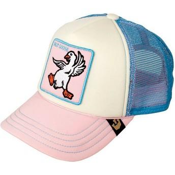 Gorra trucker rosa y azul para niño ganso Silly Goose de Goorin Bros.