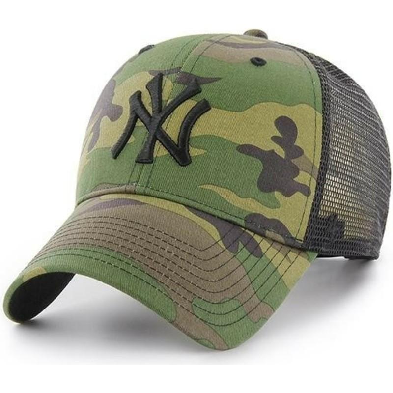 47 Brand Black Logo New York Yankees MLB Branson MVP Camouflage ... 67f83b7d538