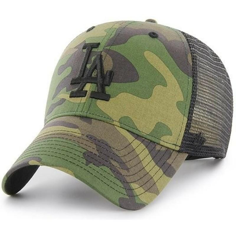 f9bfc8101ffcf 47 Brand Black Logo Los Angeles Dodgers MLB Branson MVP Camouflage ...