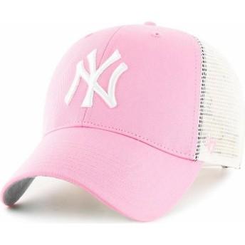 Gorra trucker rosa de New York Yankees MLB de 47 Brand