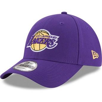 Gorra curva violeta ajustable 9FORTY The League de Los Angeles Lakers NBA de New Era