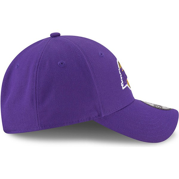new-era-curved-brim-9forty-the-league-los-angeles-lakers-nba-purple-adjustable-cap