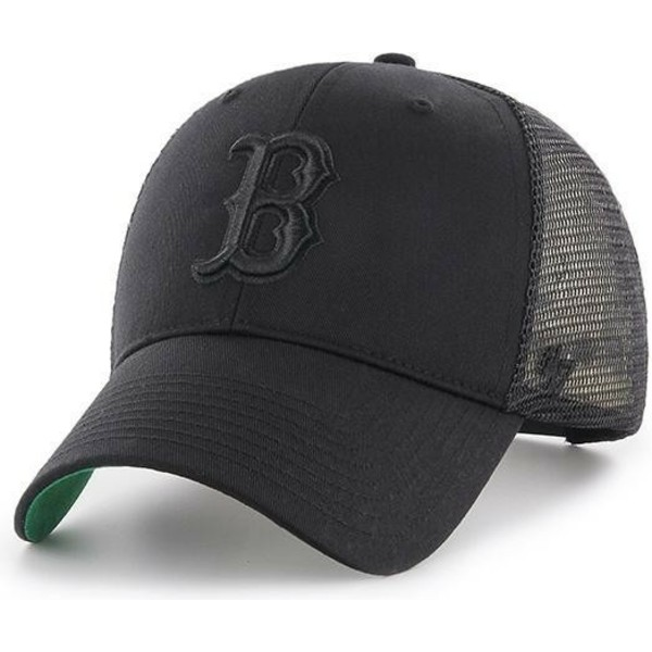 47-brand-black-logo-boston-red-sox-mlb-mvp-branson-black-trucker-hat